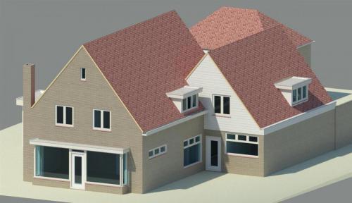 Bouwplan voor het realiseren van een woonkamer boven op de bestaande woning