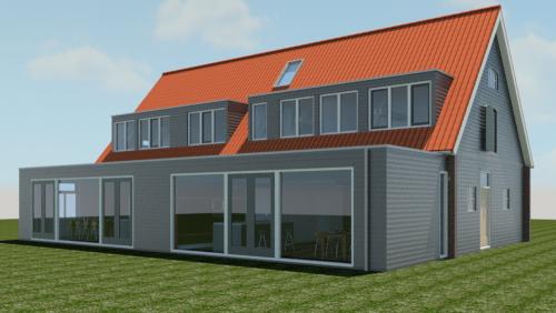 Verbouw woonboerderij tot 2-1 kap woning in Velp